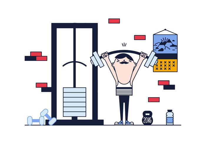 Free Weight Lifting Vektor