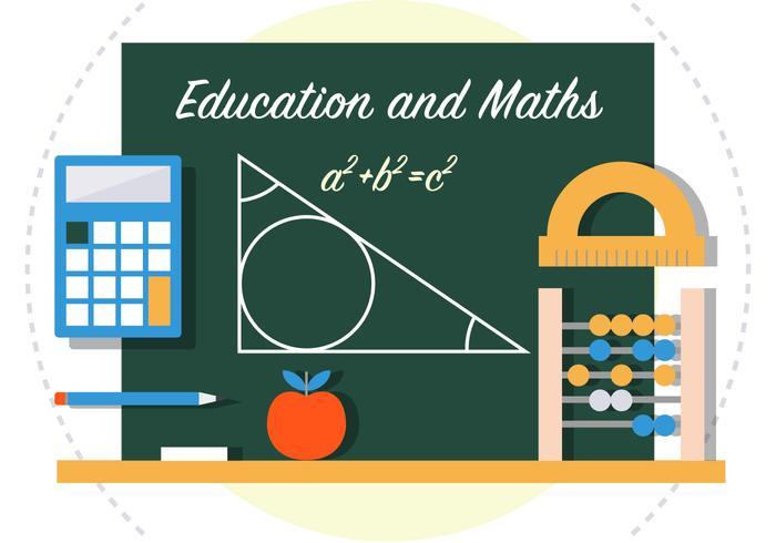Matematik Tillbaka till skolan Vektorillustration vektor