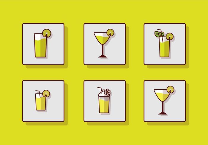 Färskt Drickande Ikon vektor