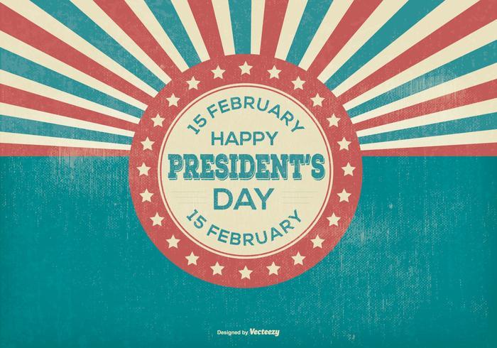 Retro Präsidenten Tag Illustration vektor