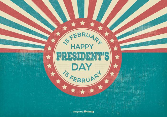 Retro presidents dag illustration vektor