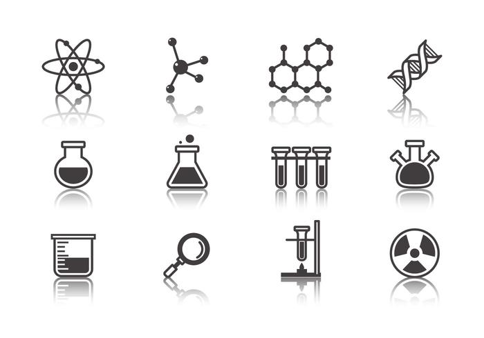 Gratis vetenskap och laboratorium ikoner vektor