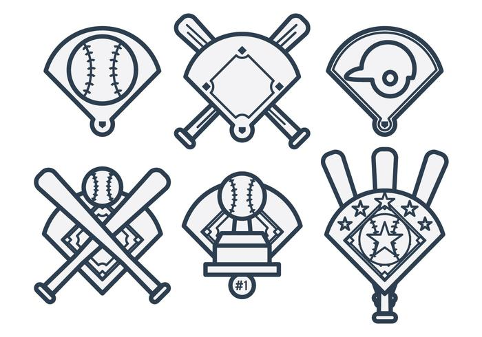 Baseball-Diamant-Vektor vektor