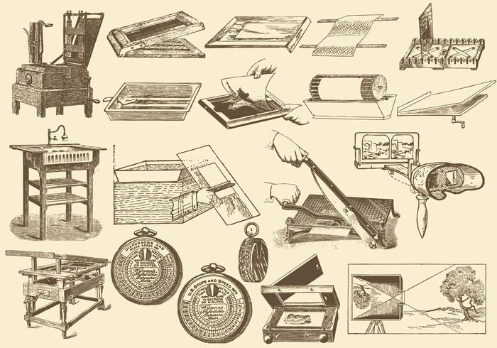 Antike Fotografie-Prozess vektor
