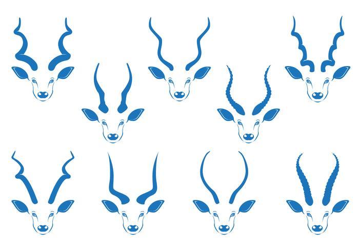 Kudu horn vektor lager