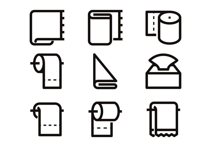 Toilettenpapier-Symbol-Vektoren vektor