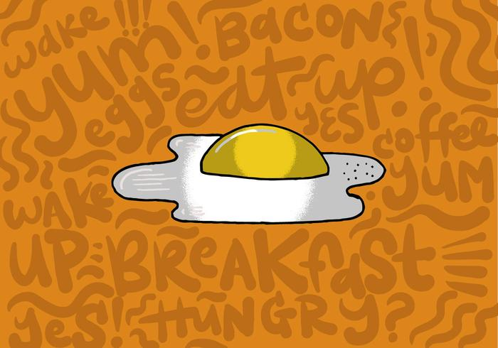 Stekt ägg frukost vektor