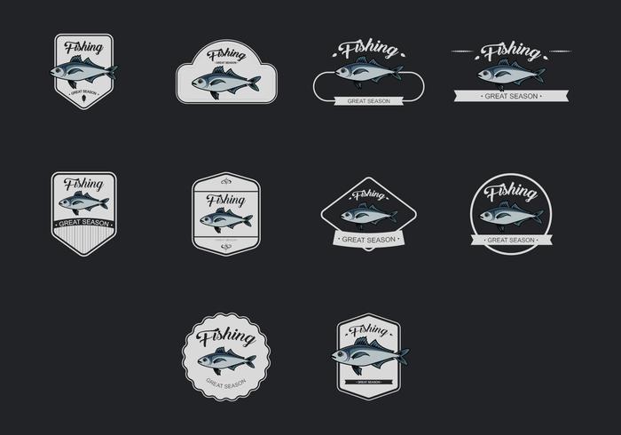 Mackerel Vorlage Icon Set vektor