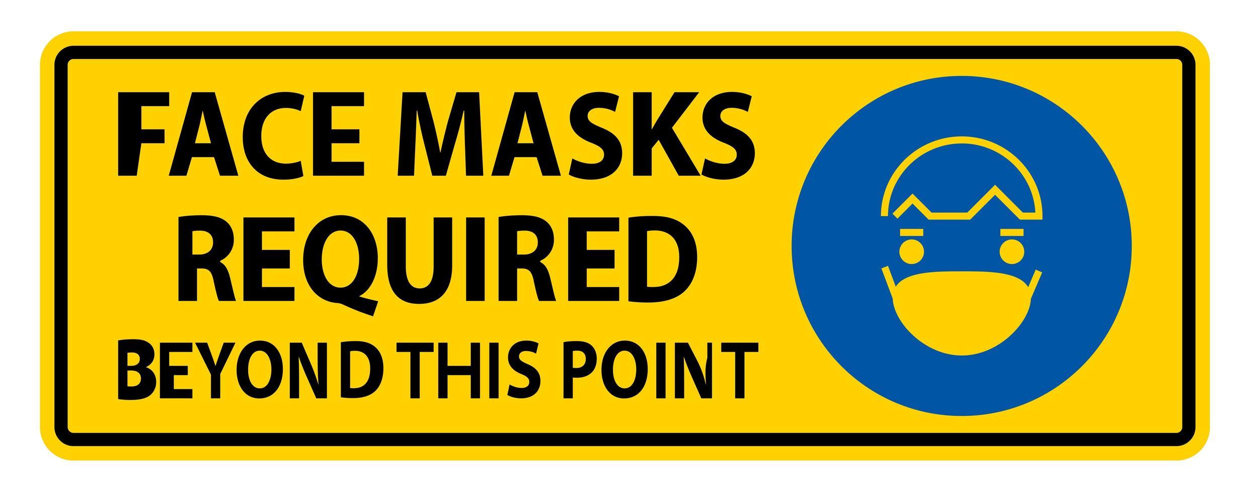 ansiktsmasker som krävs utöver denna punkt vektor