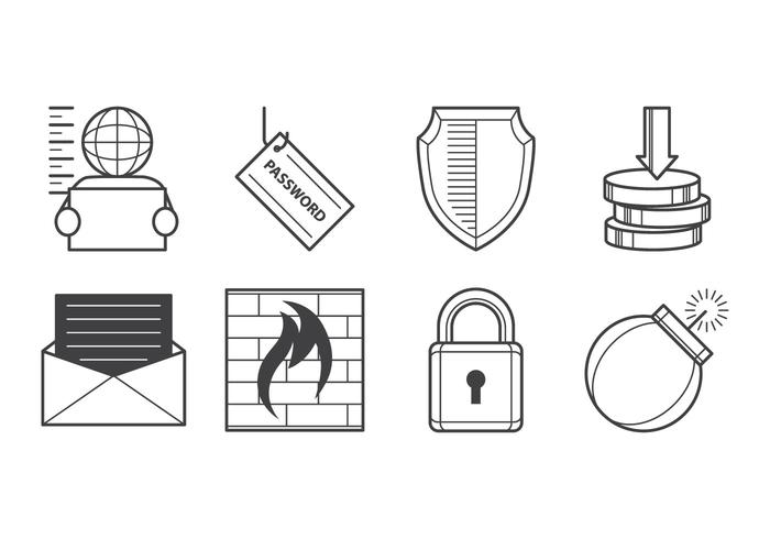 Gratis Cyber Crime Icon Vector