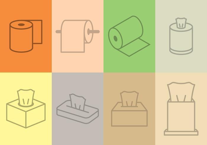 Tissue Icon gesetzt vektor