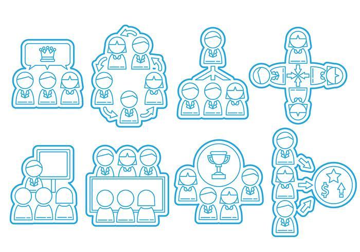 Gemeinsam arbeiten Icons vektor
