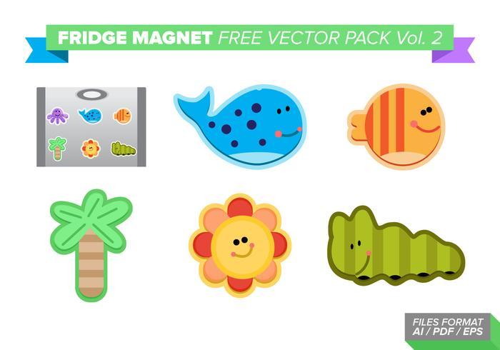 Kylskåpmagneter Gratis Vector Pack Vol. 2