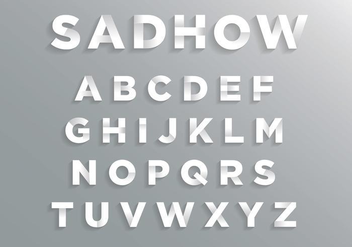 Schriftart mit weichem Schatten vektor