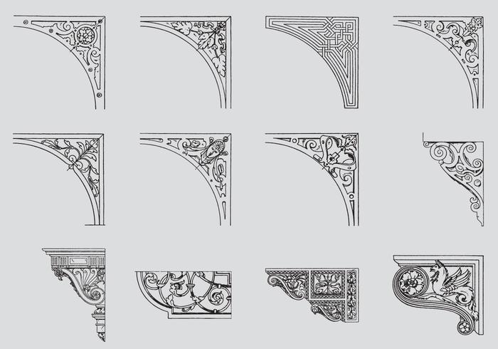 Scrollwork Ecken vektor