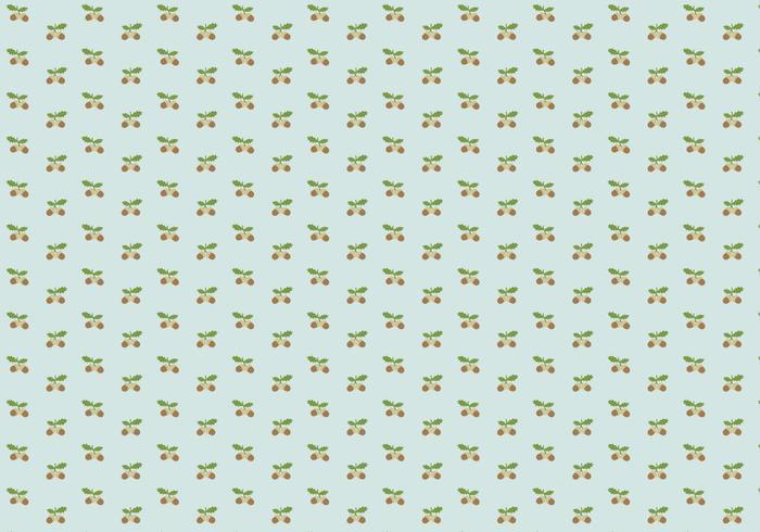 Eichel Muster Hintergrund vektor