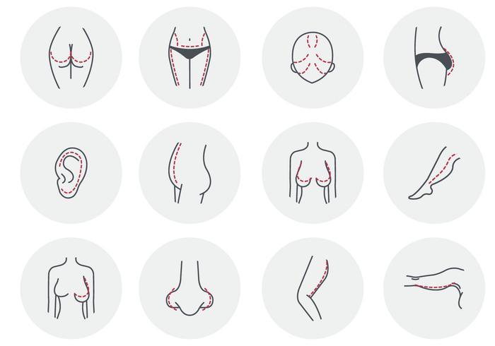 Gratis kvinna skönhet plastikkirurgi vektor