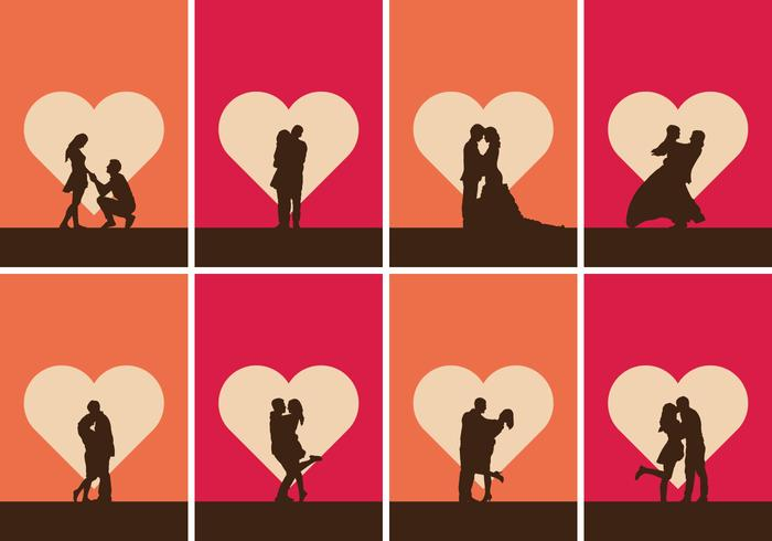 Romantische Illustration Set vektor