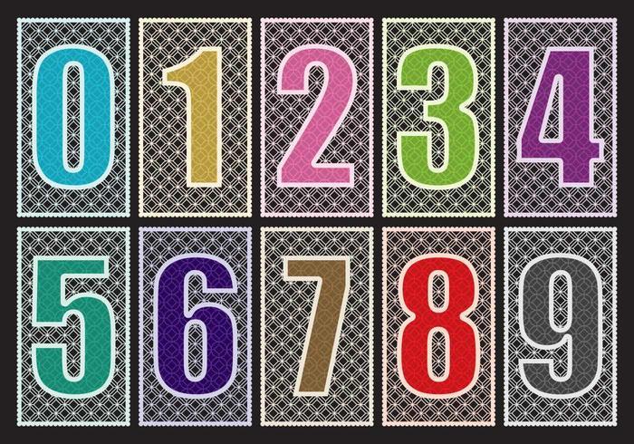 Laser geschnittene Zahlen vektor