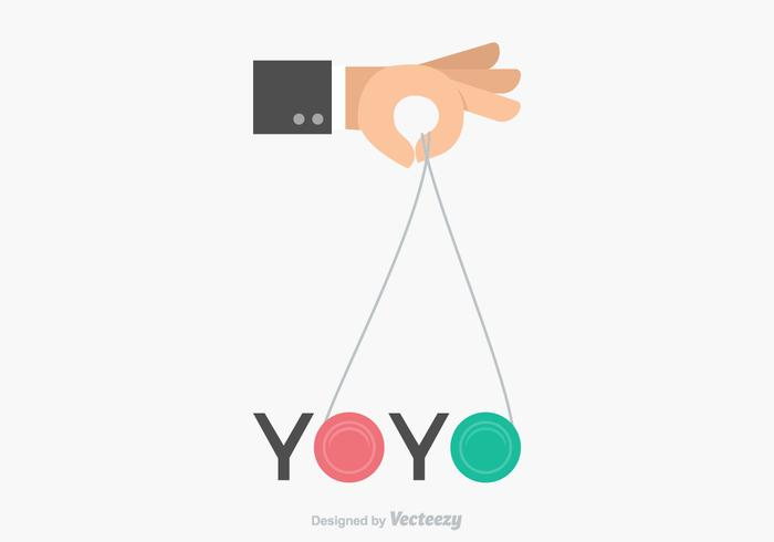 Gratis Vector Yoyo Hand Design