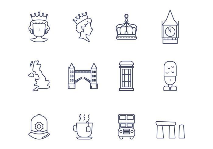 Kostenlose britische Vektor-Icon vektor