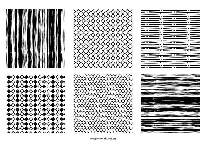 Hand gezeichnet nahtlose Vektor-Muster vektor