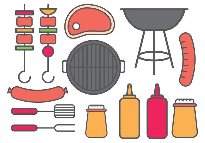 Barbecue-Icon vektor