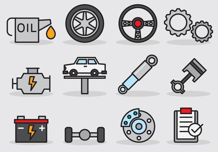 Söt Bil Service Ikon vektor