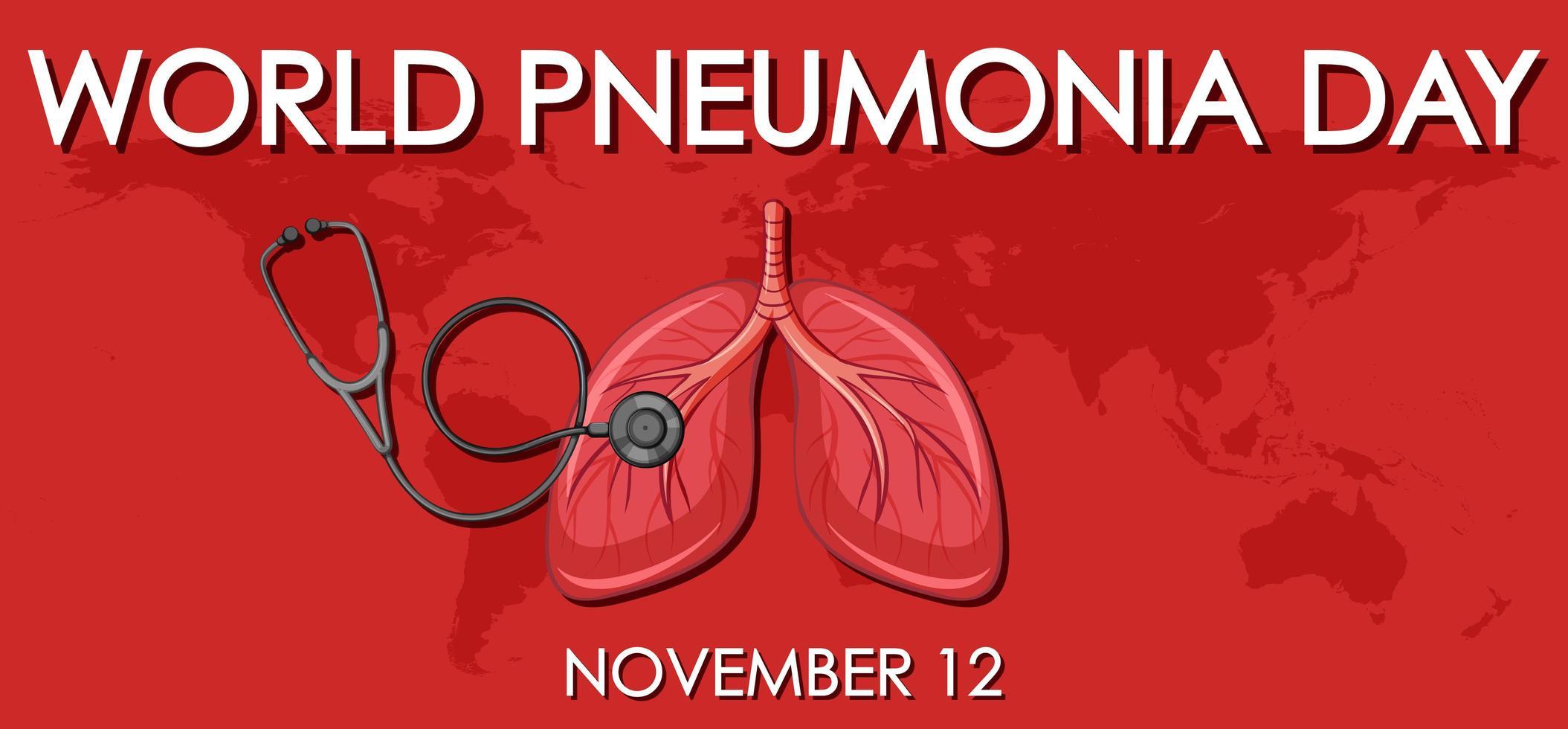 Weltpneumonie Tag vektor