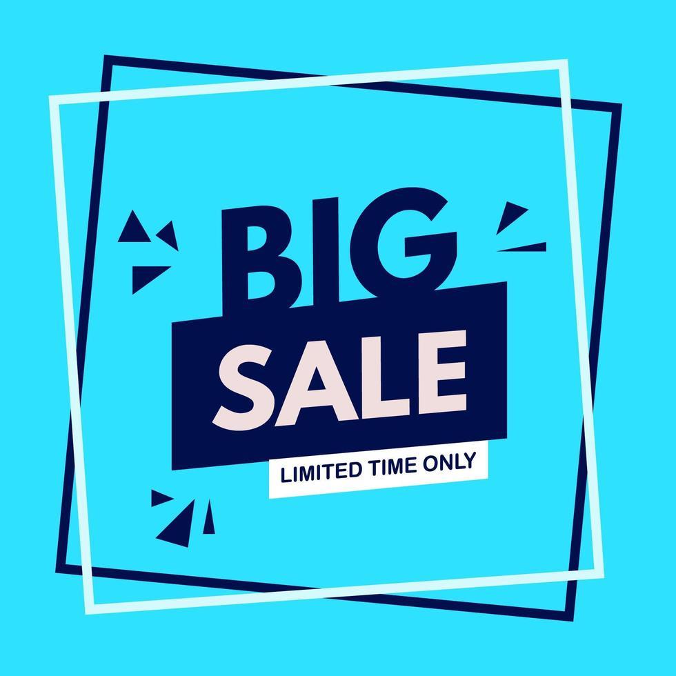'' Big Sale '' Angebot im Rahmen vektor