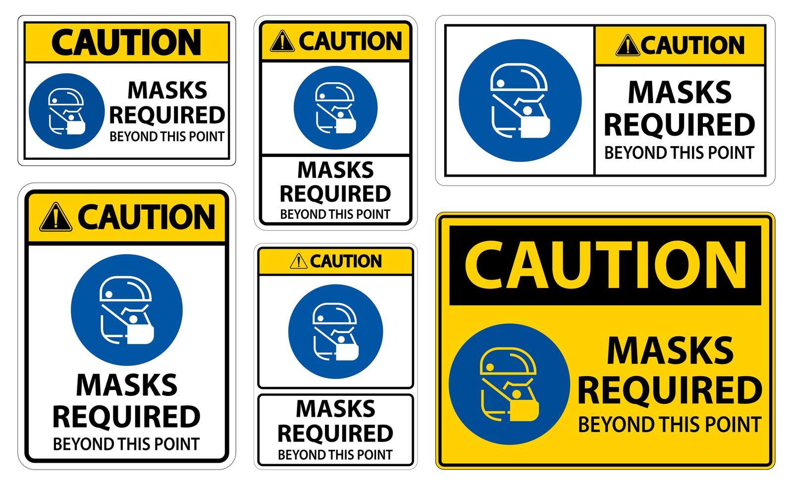varningsmasker som krävs utöver denna punktteckenuppsättning vektor