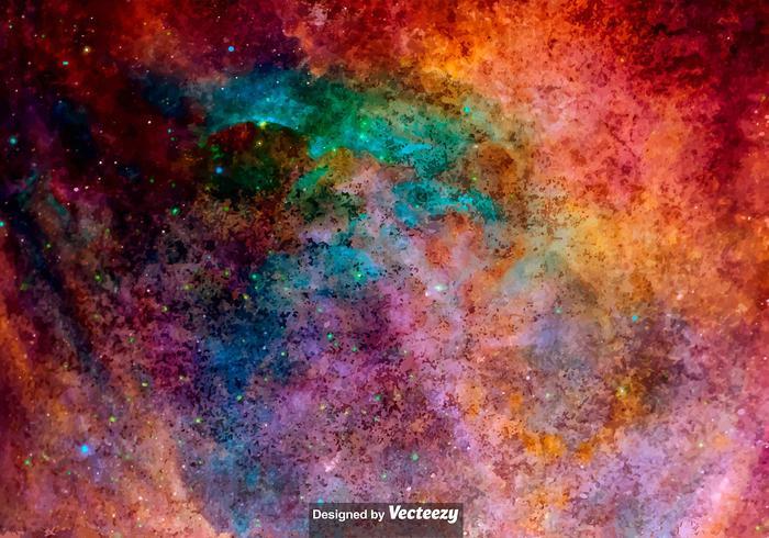 Vektor vattenfärgad yttre utrymme textur