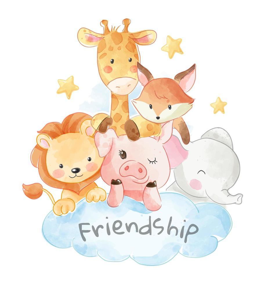 djur vänskap vektor