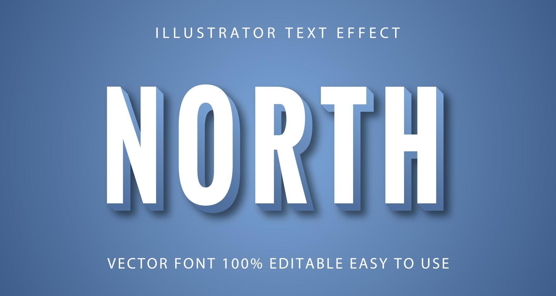 vit med blå norr texteffekt vektor