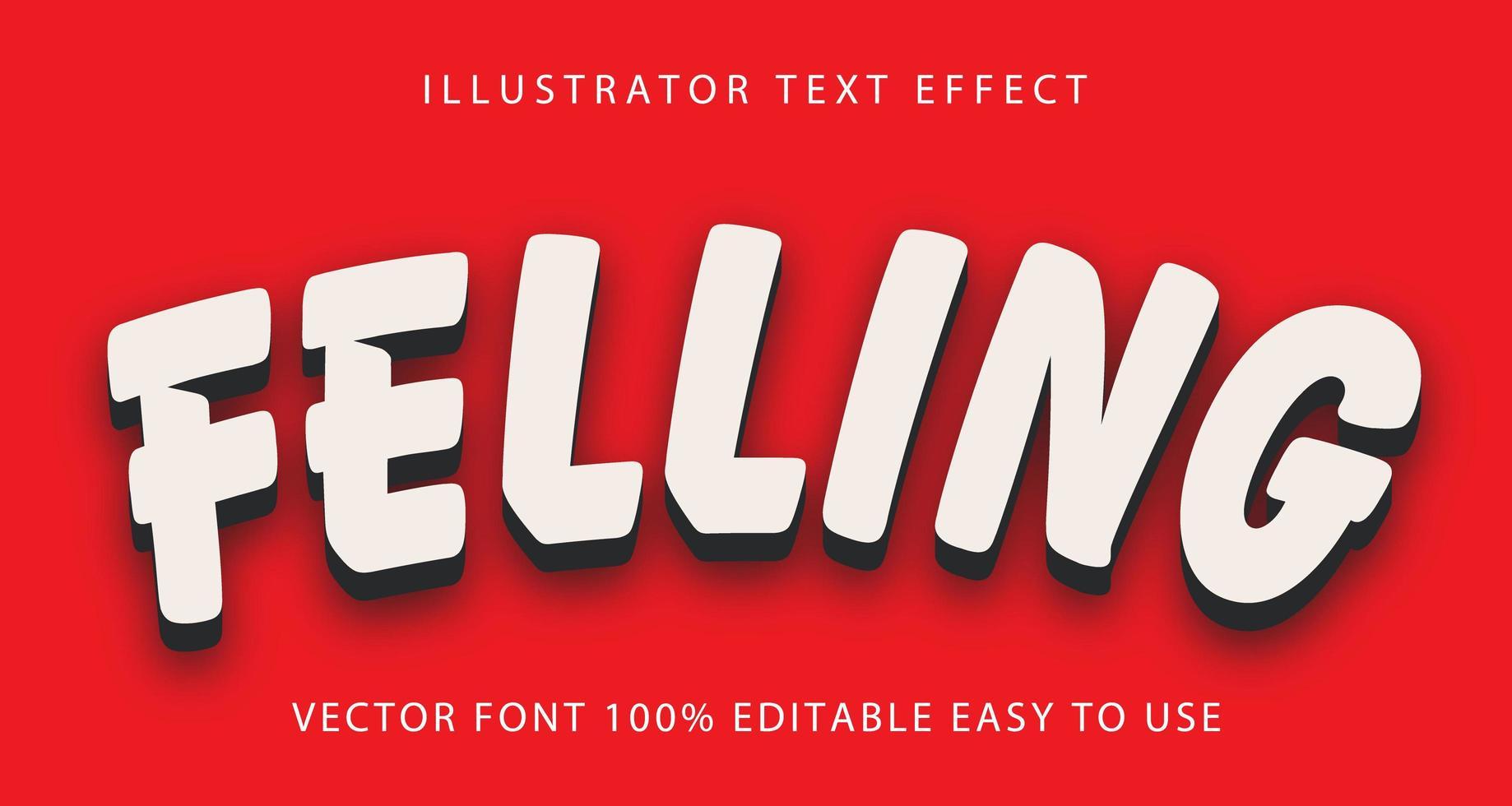 avverkning vit, svart skugga text effekt vektor