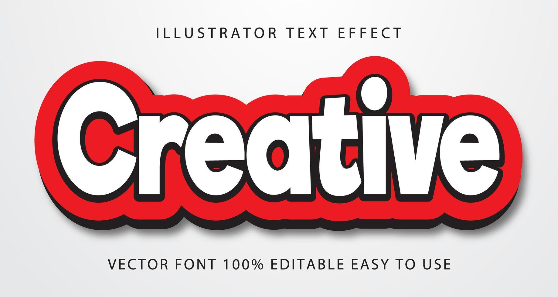 kreativ vit text effekt vektor