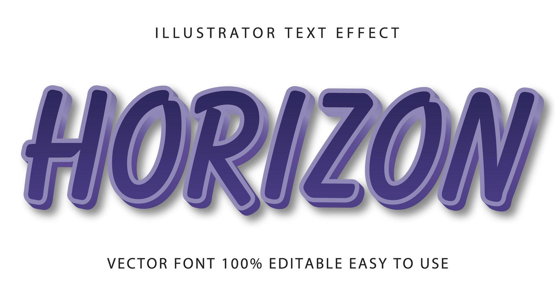 blå konturerad horisonttexteffekt vektor