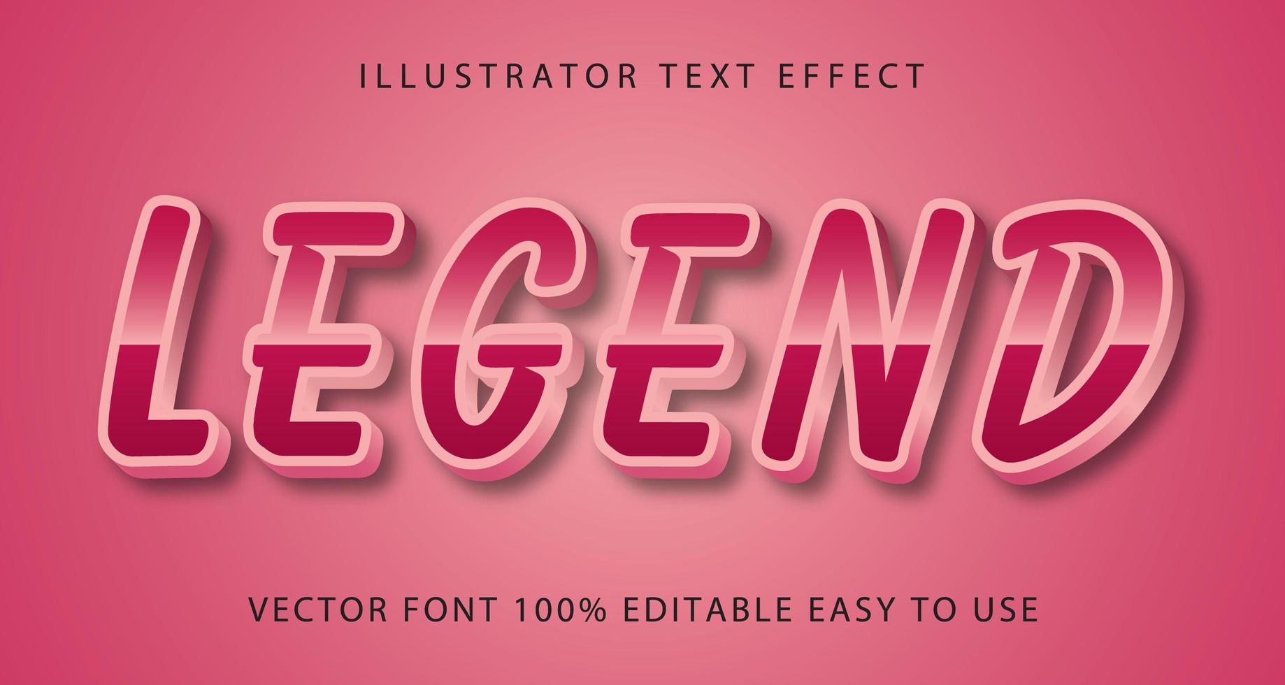 legenden rosa metalltexteffekt vektor