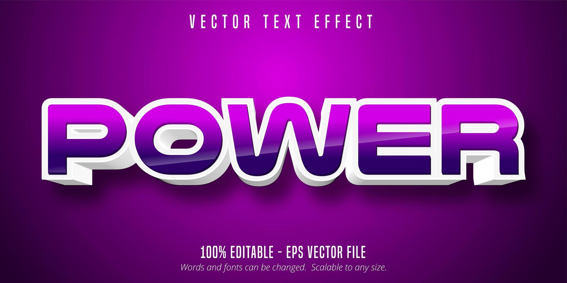 bearbeitbarer Texteffekt im Spielstil vektor