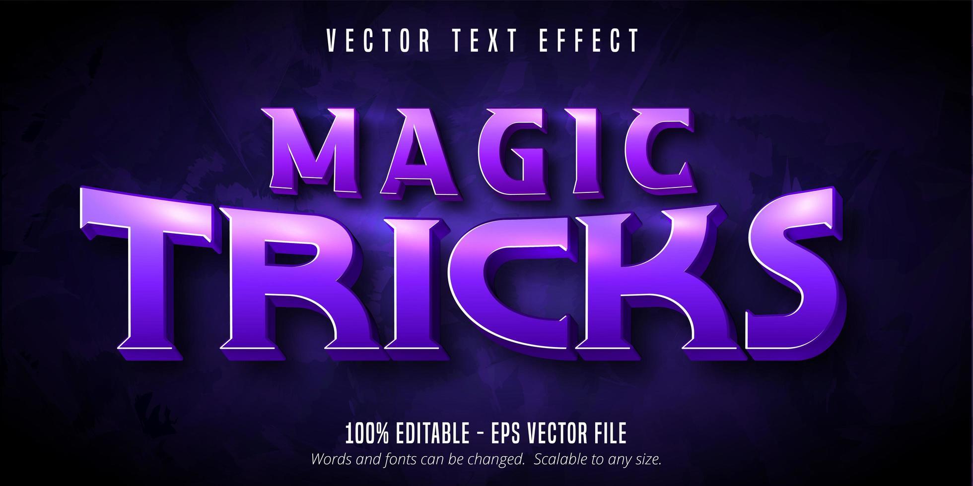 magiker stil redigerbar text effekt vektor