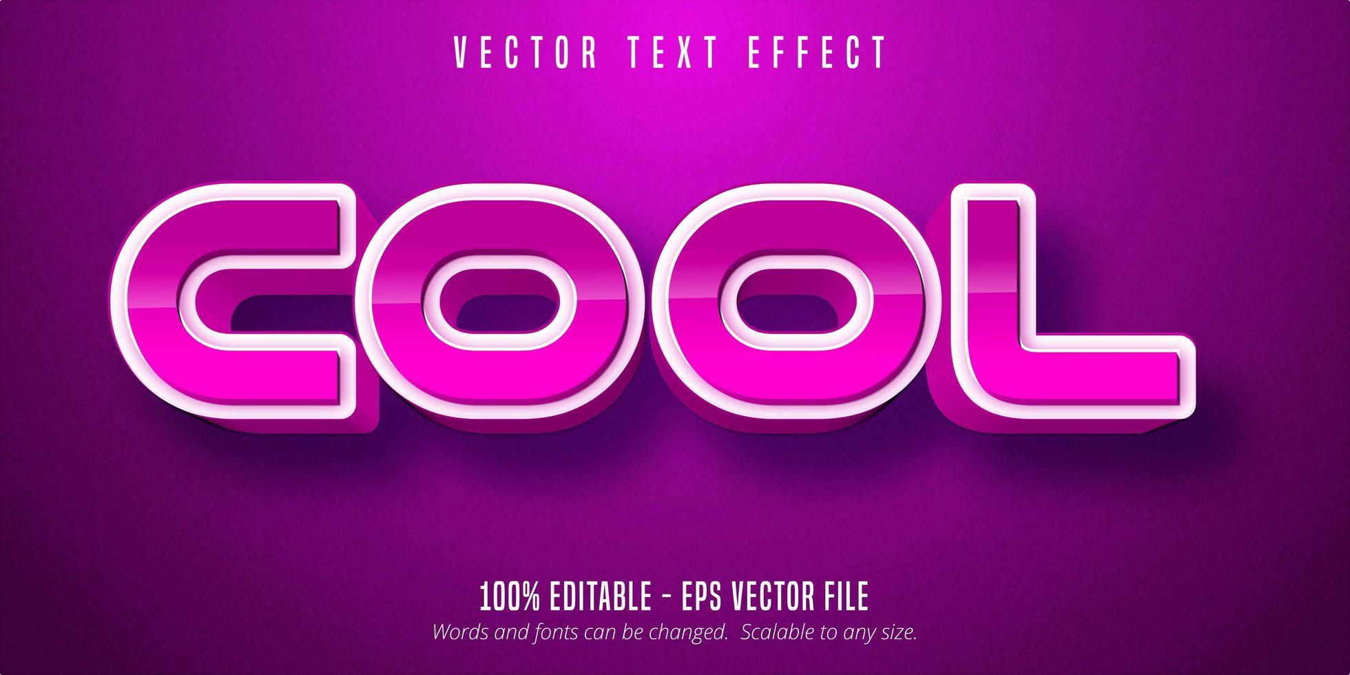 bearbeitbarer Texteffekt im coolen Stil vektor