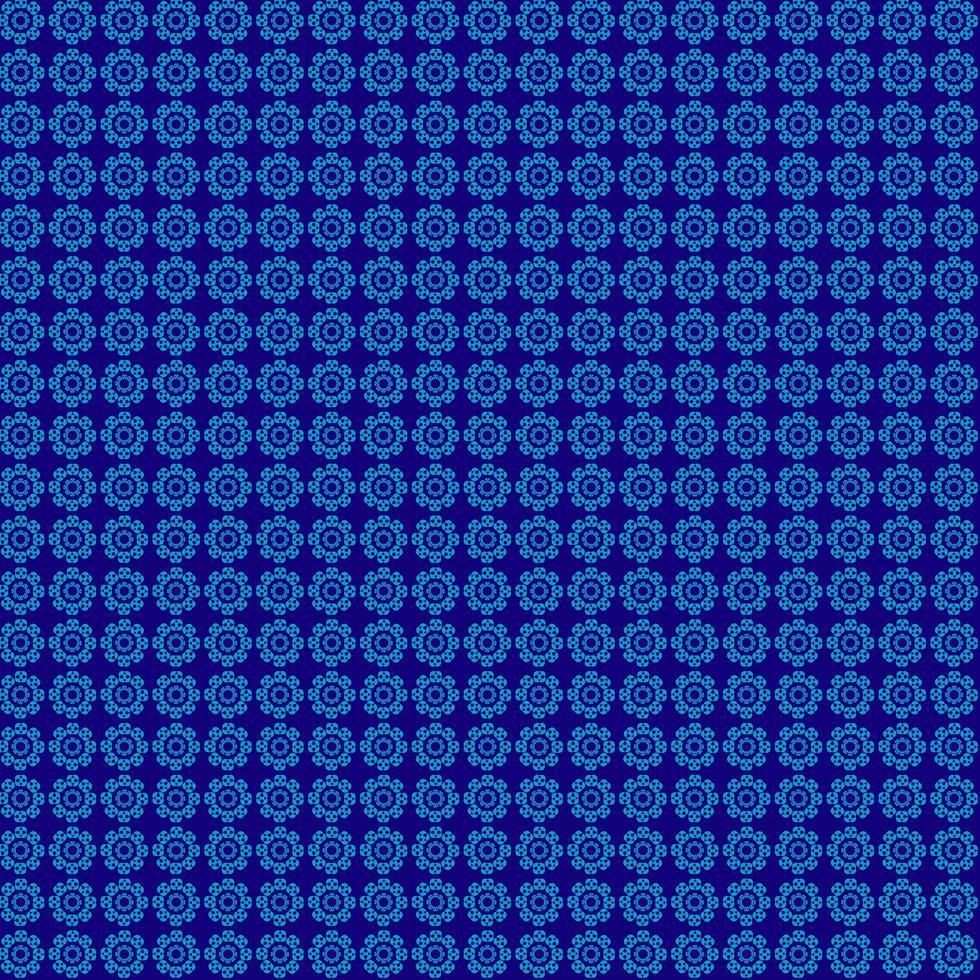 blå mönster cirklar vektor
