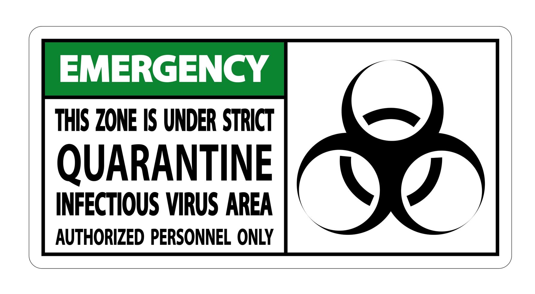 Notfall-Quarantäne-Infektionsvirus-Bereich vektor
