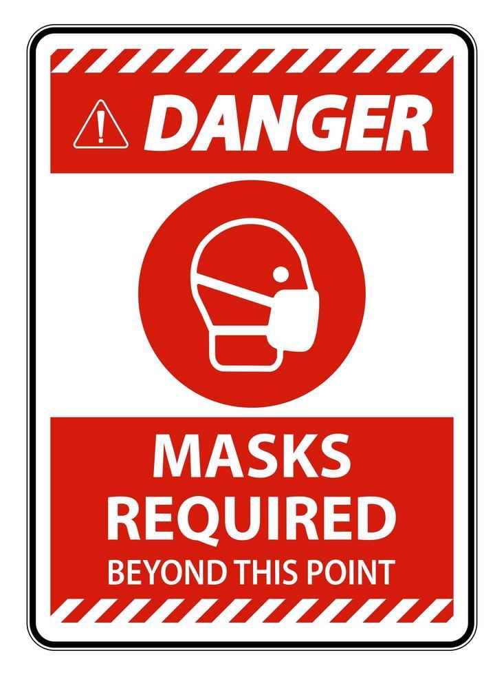 röda masker krävs utöver detta poängtecken vektor