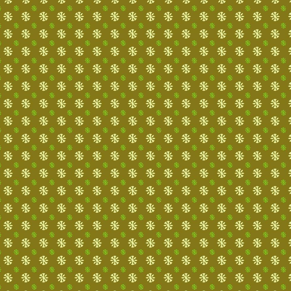 lime blommig cirkel mönster design vektor