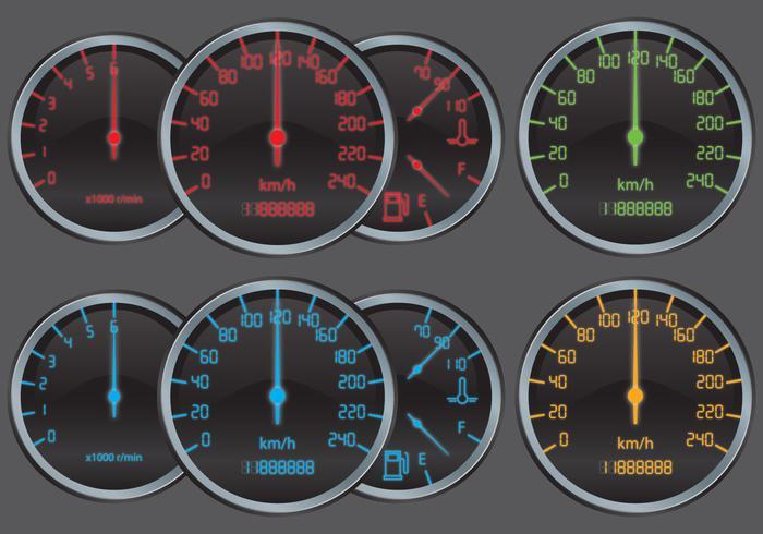 Digitale Tachometer vektor