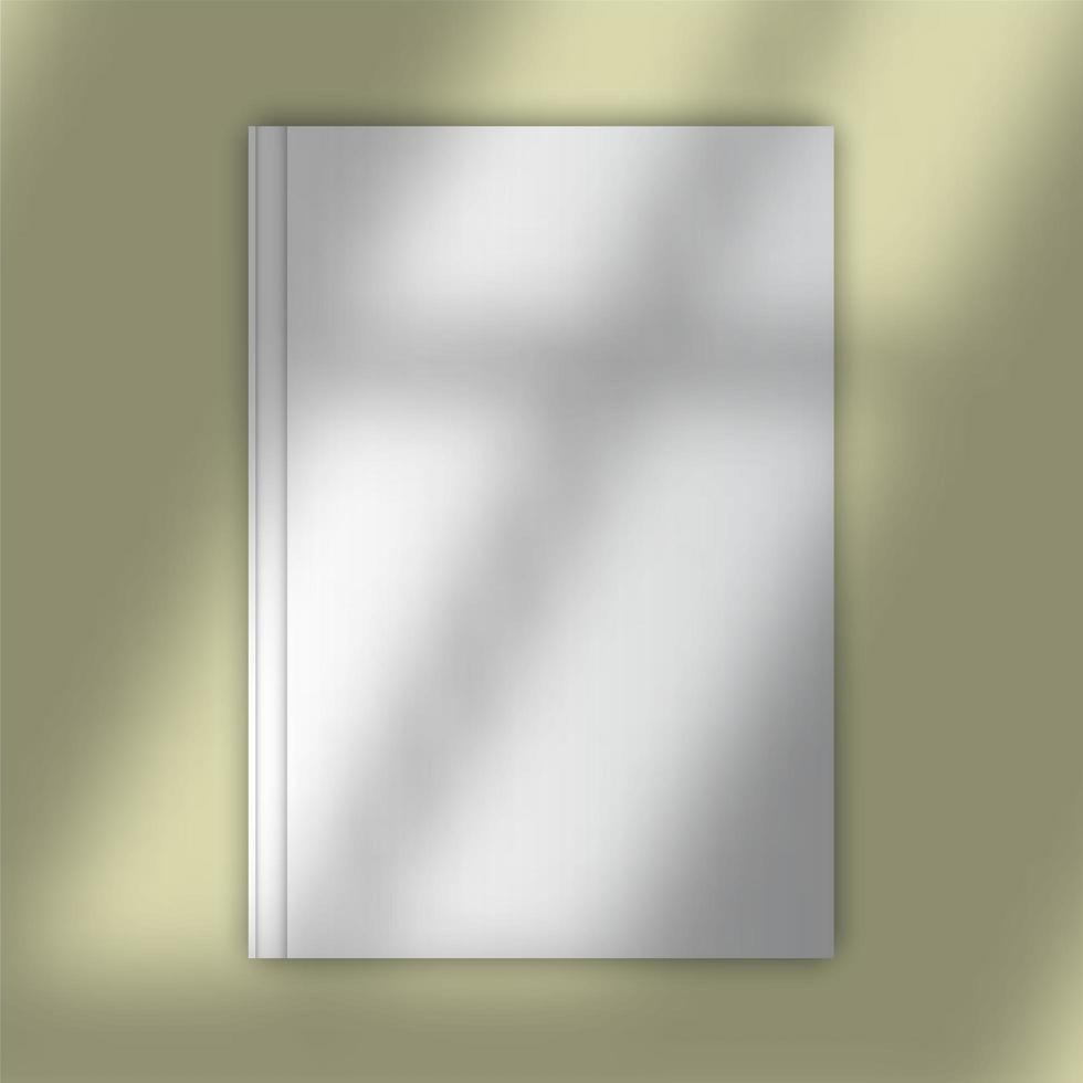 Buchumschlag mit Schattenüberlagerung nachahmen vektor
