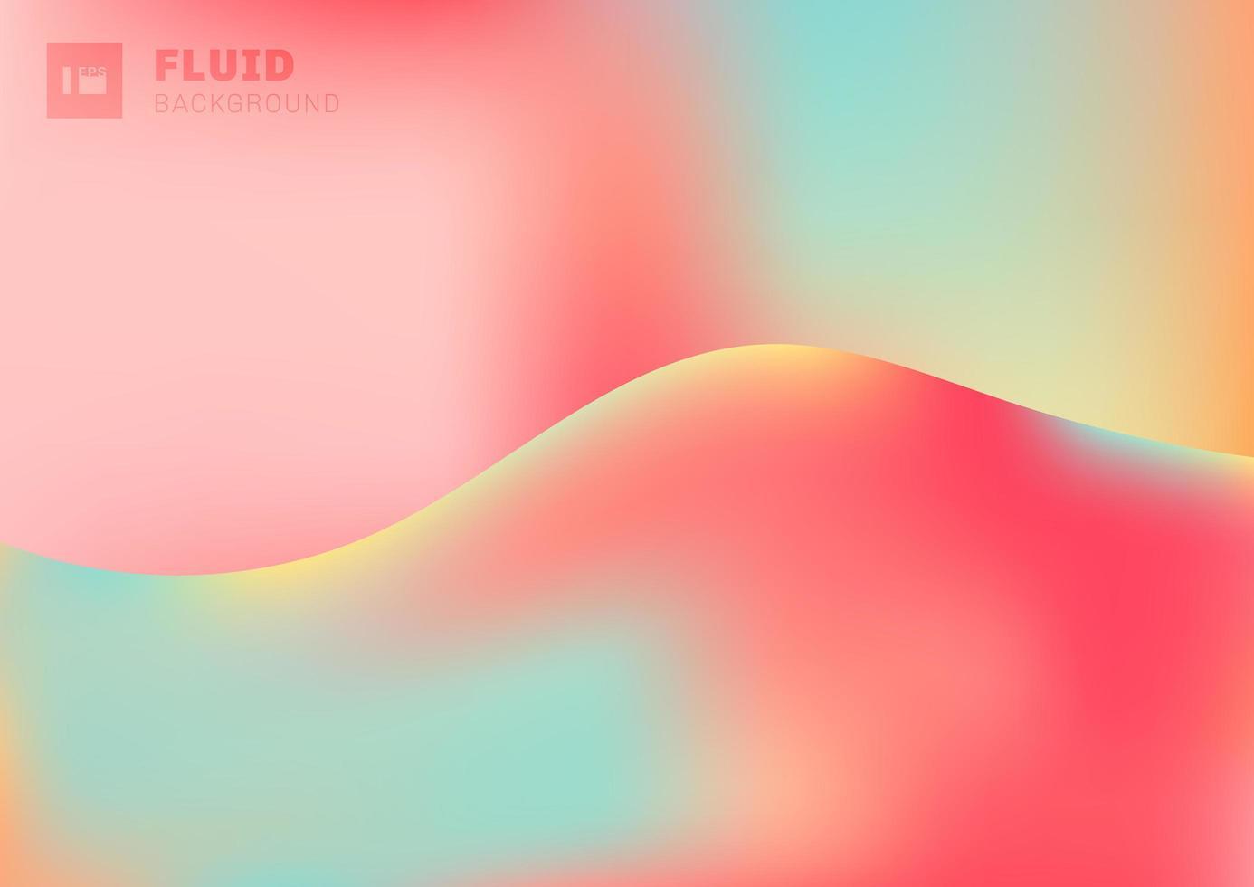 trendige flüssige lebendige Farbverlaufswelle vektor