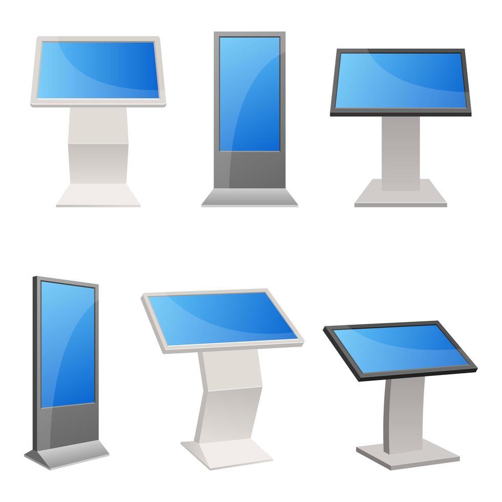 digitaler Kiosk lokalisiert auf weißem Hintergrund vektor