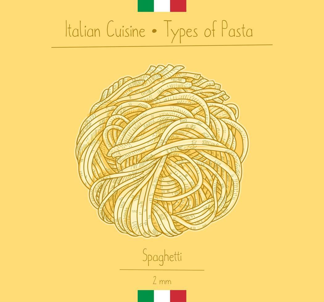 italiensk matspagettipasta vektor